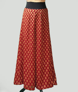 Palazzo Pants in Georgette with Charming Brocade Top Set