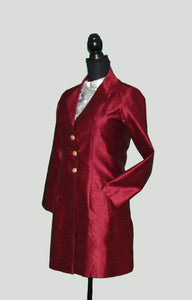 Blazer Love in winter sheen Maroon Silk