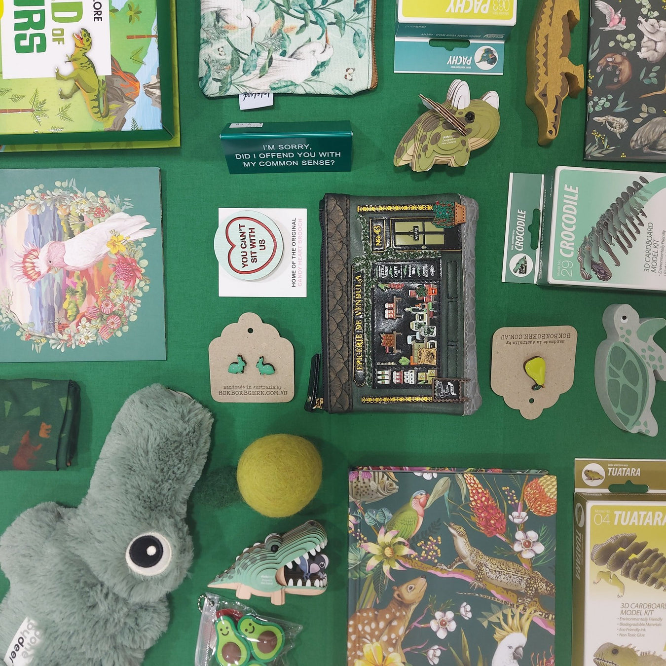 Gifts that are Green, Different Gifts, different shapes and sizes!  People can obsess over colour, sometimes it's on brand, or just visual stimulating, it can be their favourite colour or themed to thier needs.  Good thing we are a Gift Shop