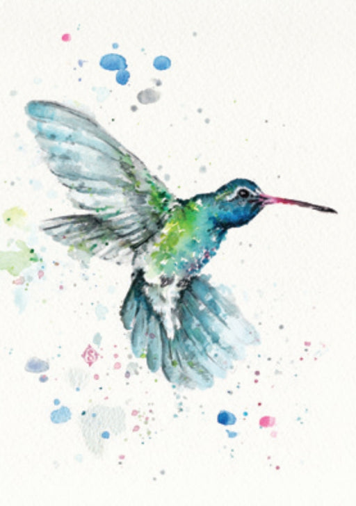 Sillier Than Sally - A4 Print - Portrait - Hummingbirds Flurry