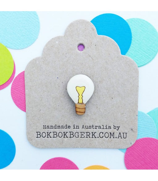 Bok Bok B'Gerk Lightbulb Lapel Pin