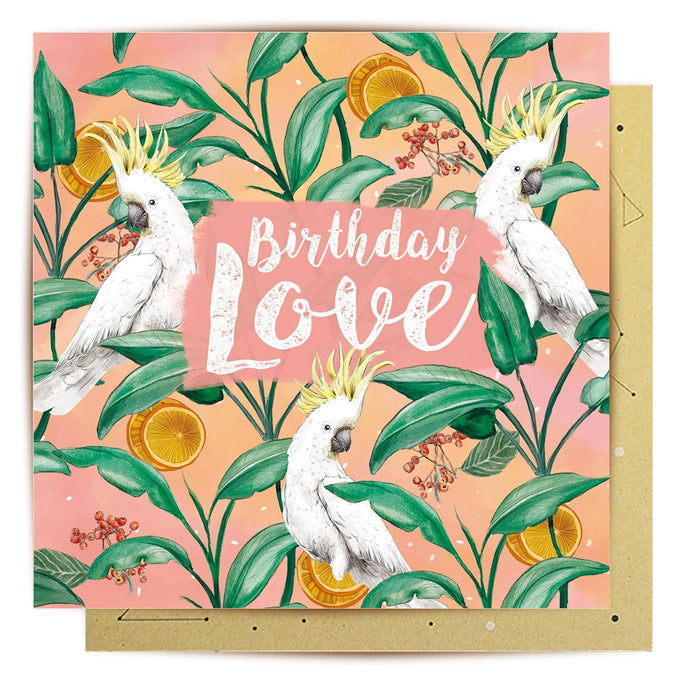 La La Land Greeting Card Cockatoo Love
