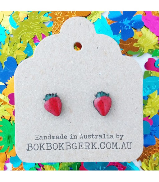 Bok Bok B'Gerk Strawberry Earrings