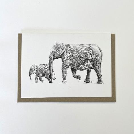 Marini Ferlazzo Greeting Card - Asian Elephant