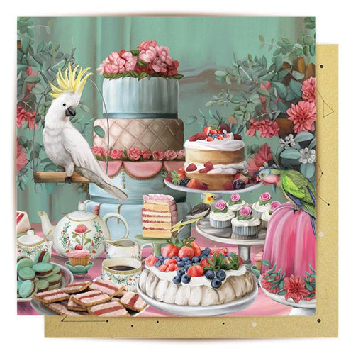 La La Land Greeting Card Lavish Tea Party