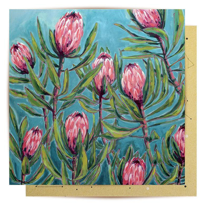 La La Land Greeting Card Painterly Proteas