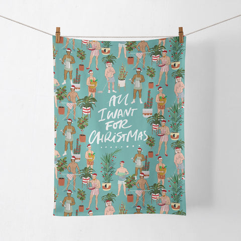 La La Land All I Want for Christmas Tea Towel