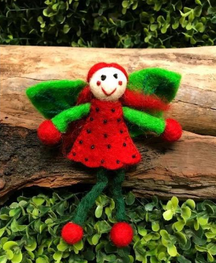 Himalayan Journey - Small Felt Fairy - Miss Strawberry