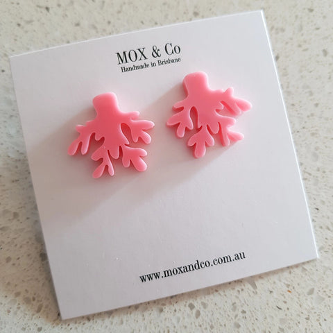 Mox & Co Coral Studs Pink