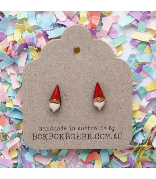 Bok Bok B'Gerk Gnome Earrings