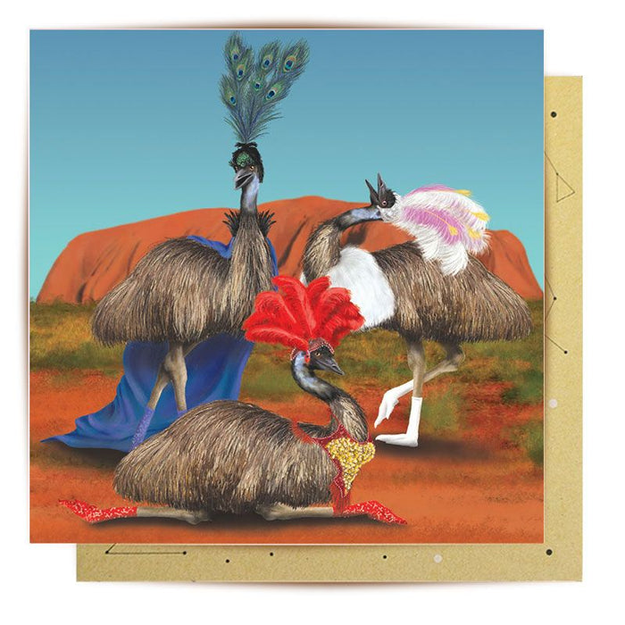 La La Land Greeting Card Desert Queens