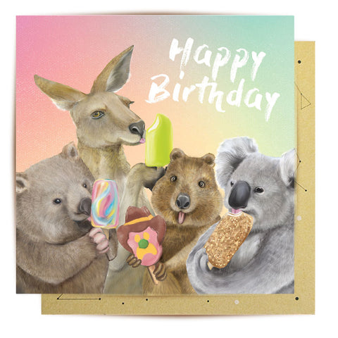 La La Land Greeting Card Ice Cream Critters