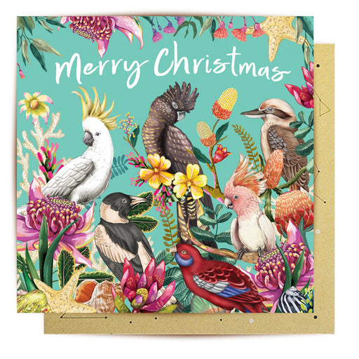 La La Land Greeting Card Floral Paradiso Merry Christmas