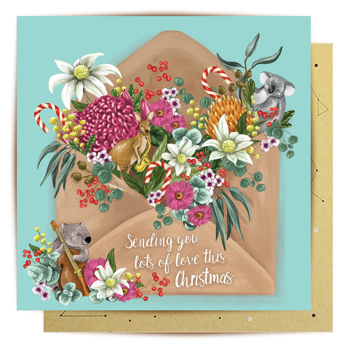 La La Land Greeting Card Musical Critters Letter