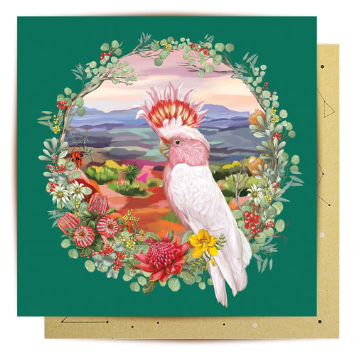 La La Land Greeting Card Nature Dwellings Wreath