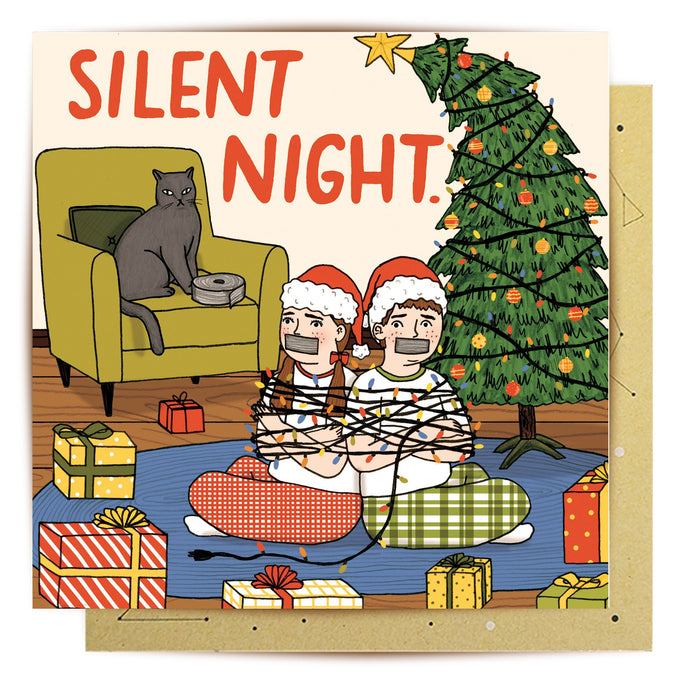 La La Land Greeting Card Silent Night