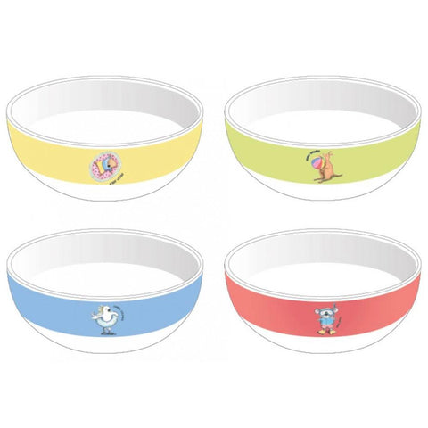 Barney Gumnut Summer Holidays Assorted Bowl Set Of 4