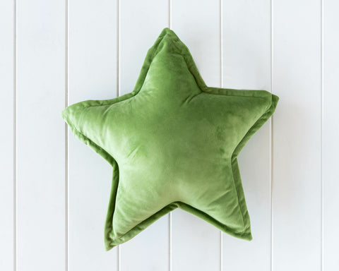 Velvet Cushion - Nova Star  - Green