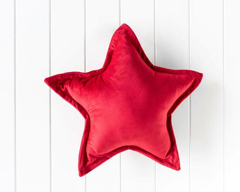 Velvet Cushion - Nova Star  - Red