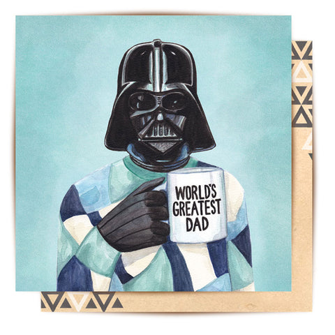 La La Land Greeting Card World's Greatest Darth