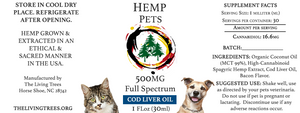 SPAGYRIC HEMP PETS 500mg - COD LIVER OIL