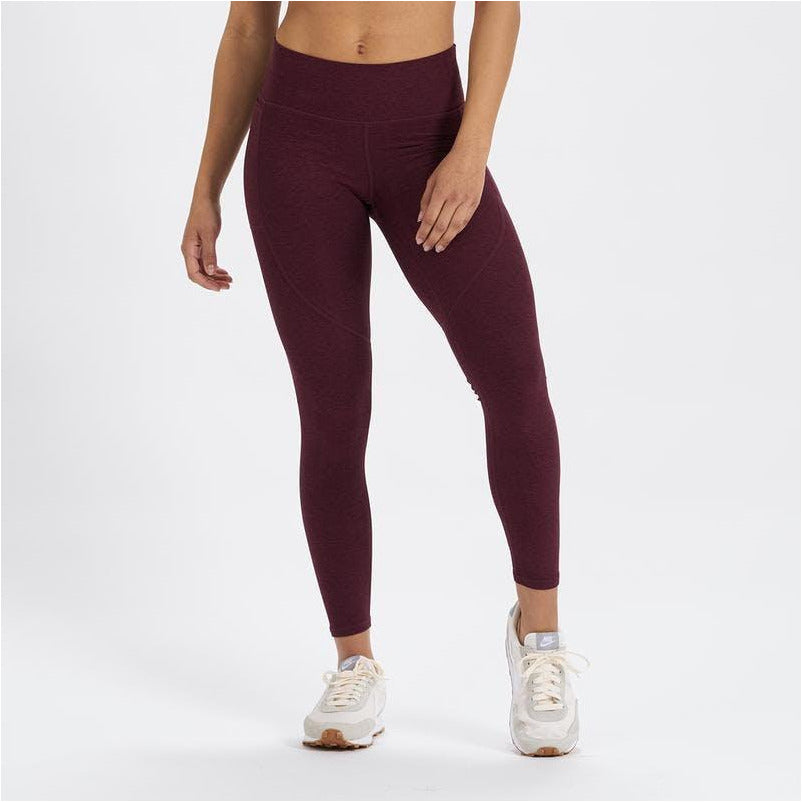 Womens Elevation Performance Legging - Cerise Heather