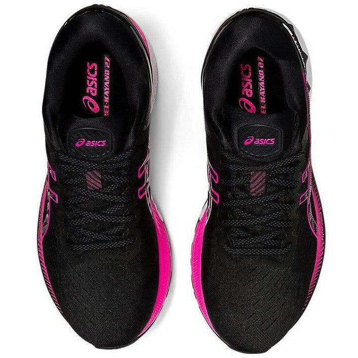 Womens Gel-Kayano 27 - Black/Pink Glow