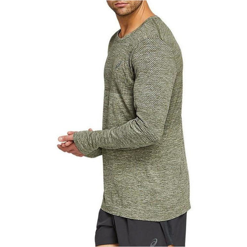 Mens Race Seamless Long Sleeve - Smog Green