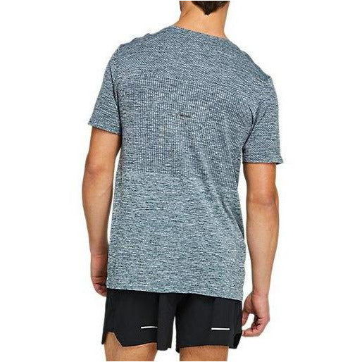 Mens Race Seamless Short Sleeve - Magnetic Blue