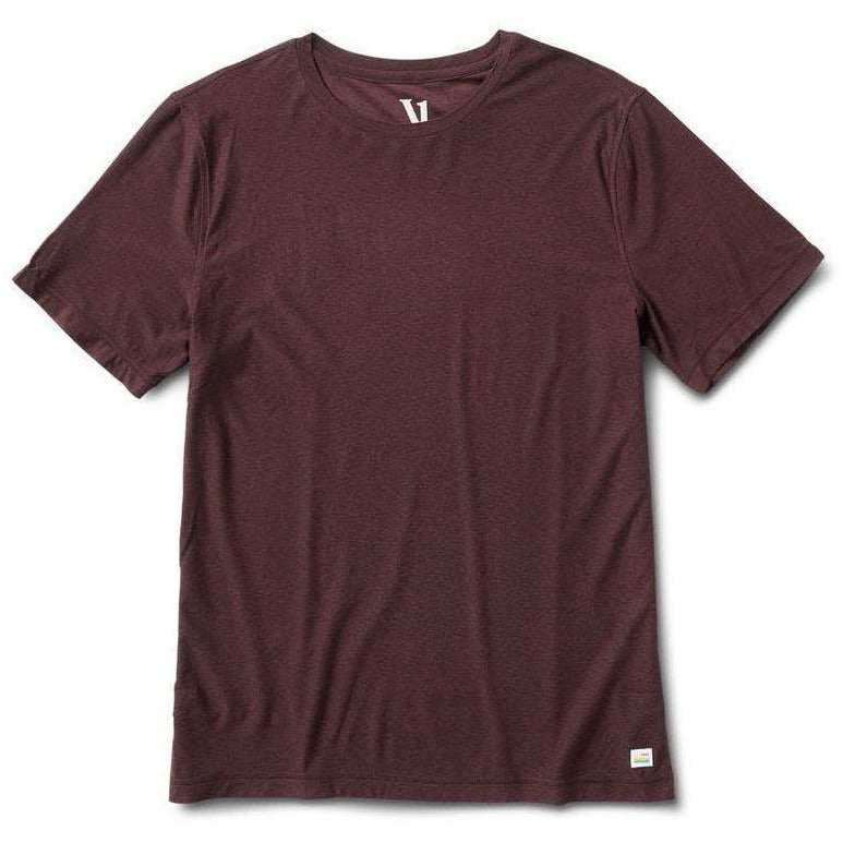 Mens Strato Tech Tee - Oxblood Heather