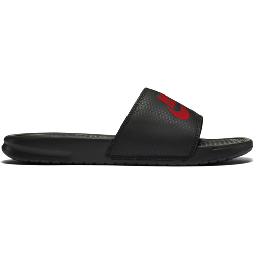 Mens Benassi JUST DO IT Sandal - Black/Red