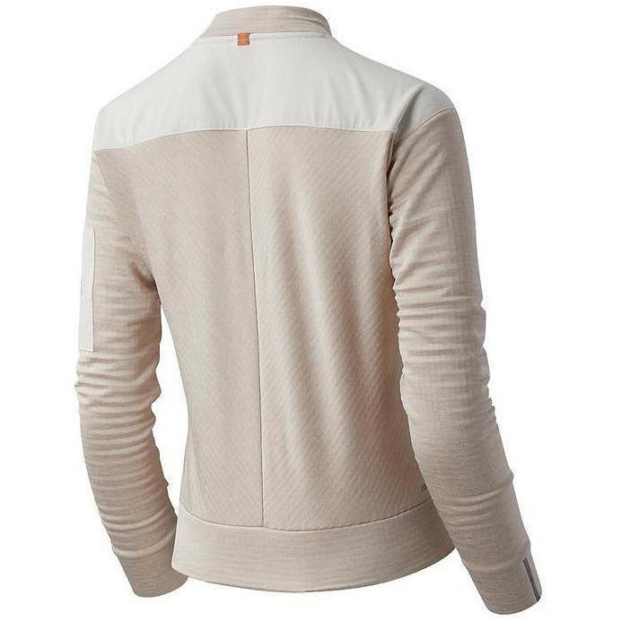 Womens Heat Grid Long Sleeve - Sea Salt Heather