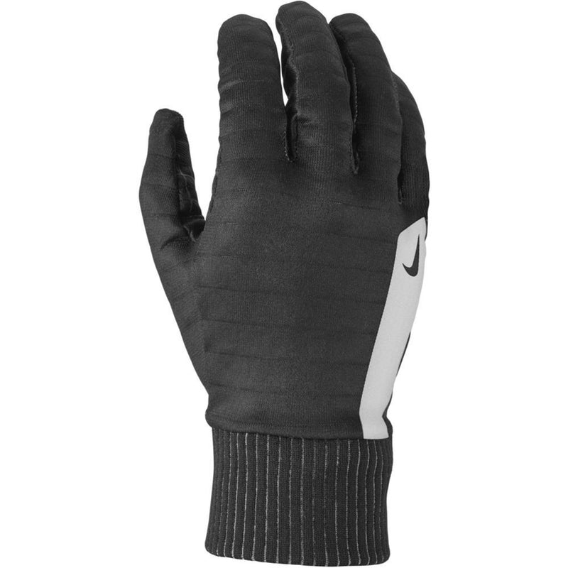 Mens Printed Sphere 360 Graphic Run Gloves - Black/Silver