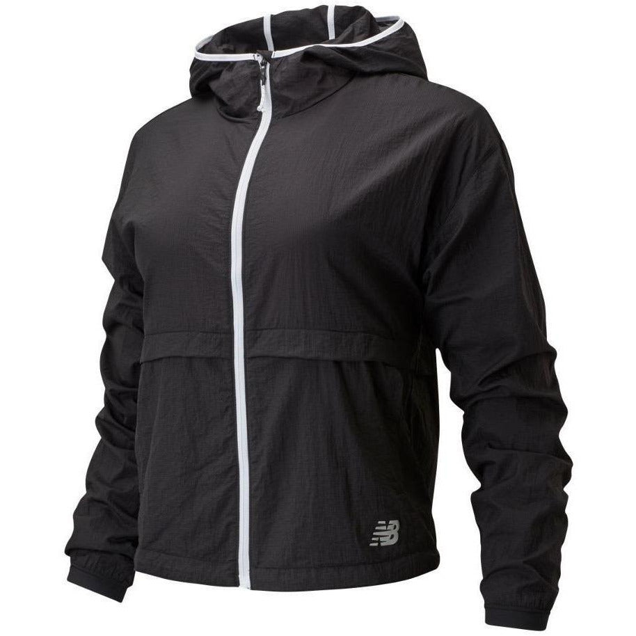 Womens Impact Run Light Pack Jacket - Black