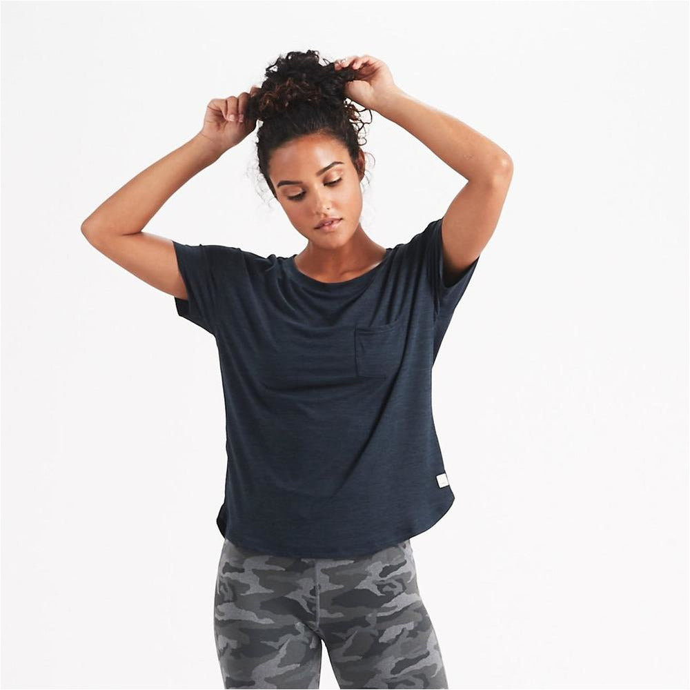 Womens Lux Performance Tee - Ink Heather