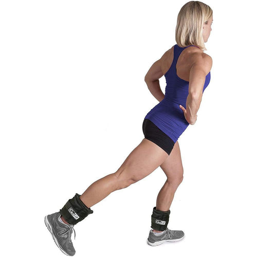 Unisex Adjustable Ankle Weights - 5 lbs