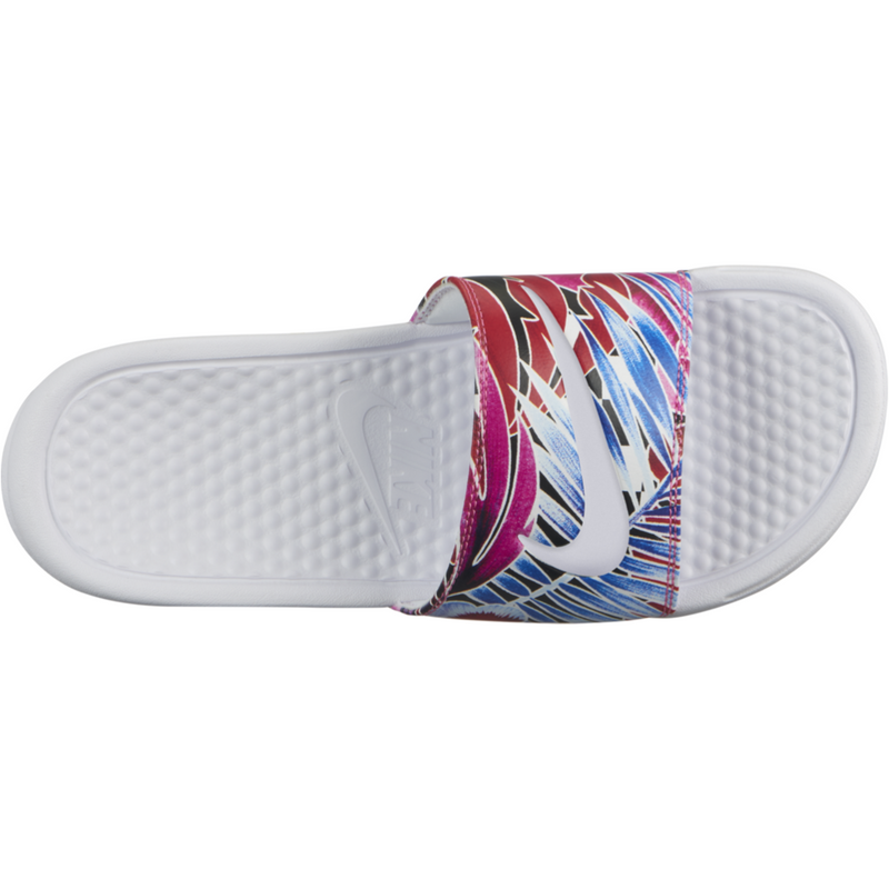 Womens Benassi JUST DO IT Sandal - White/Habanero