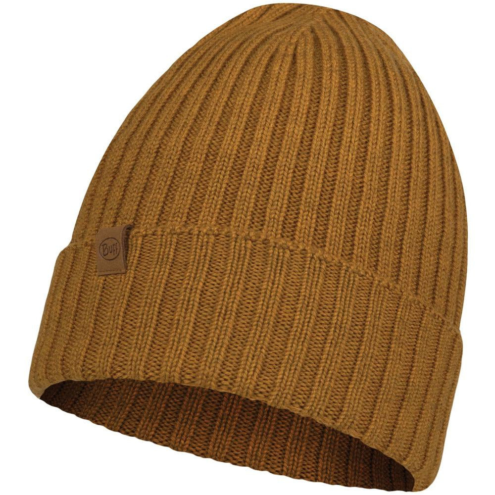 Unisex Merino Wool Knitted Hat-  Norval Mustard