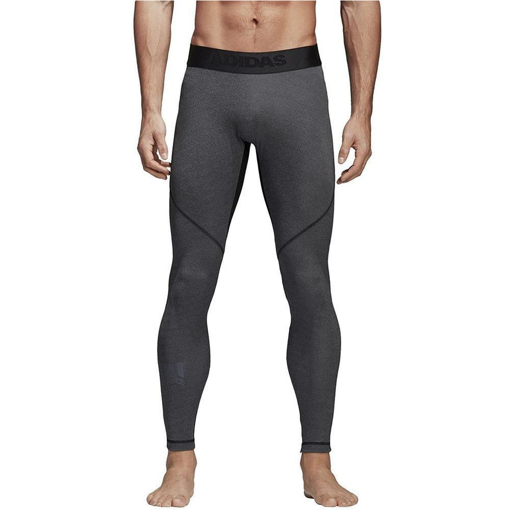 Mens Alphaskin Sport Long Tights - Grey