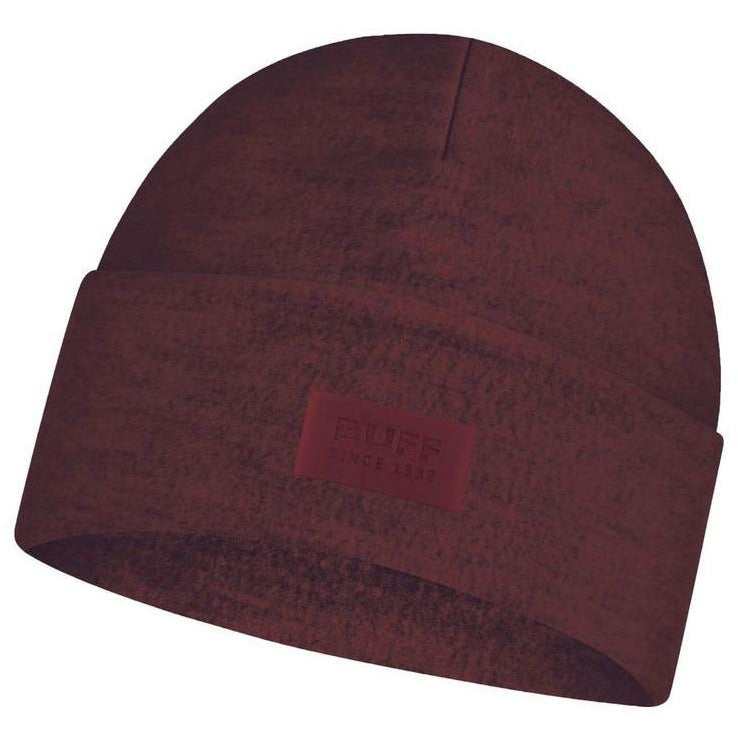 Unisex Merino Wool Fleece Hat - Maroon