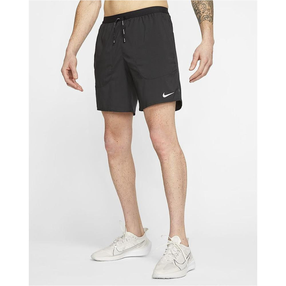 Mens Flex Stride 7'' Running Shorts - Black