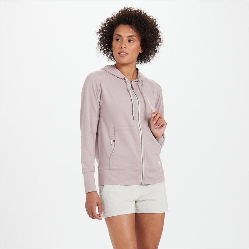 Womens Halo Performance Hoodie - Dusk Heather