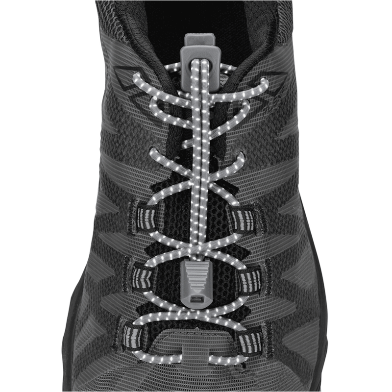 Unisex Reflective Run laces - Black