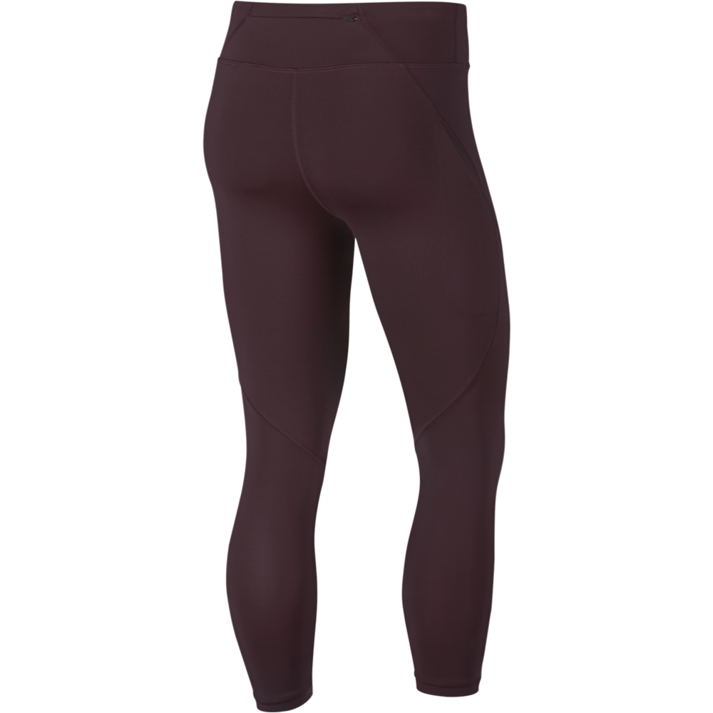 Womens Power Epic Lux Tights- BURGUNDY CRUSH