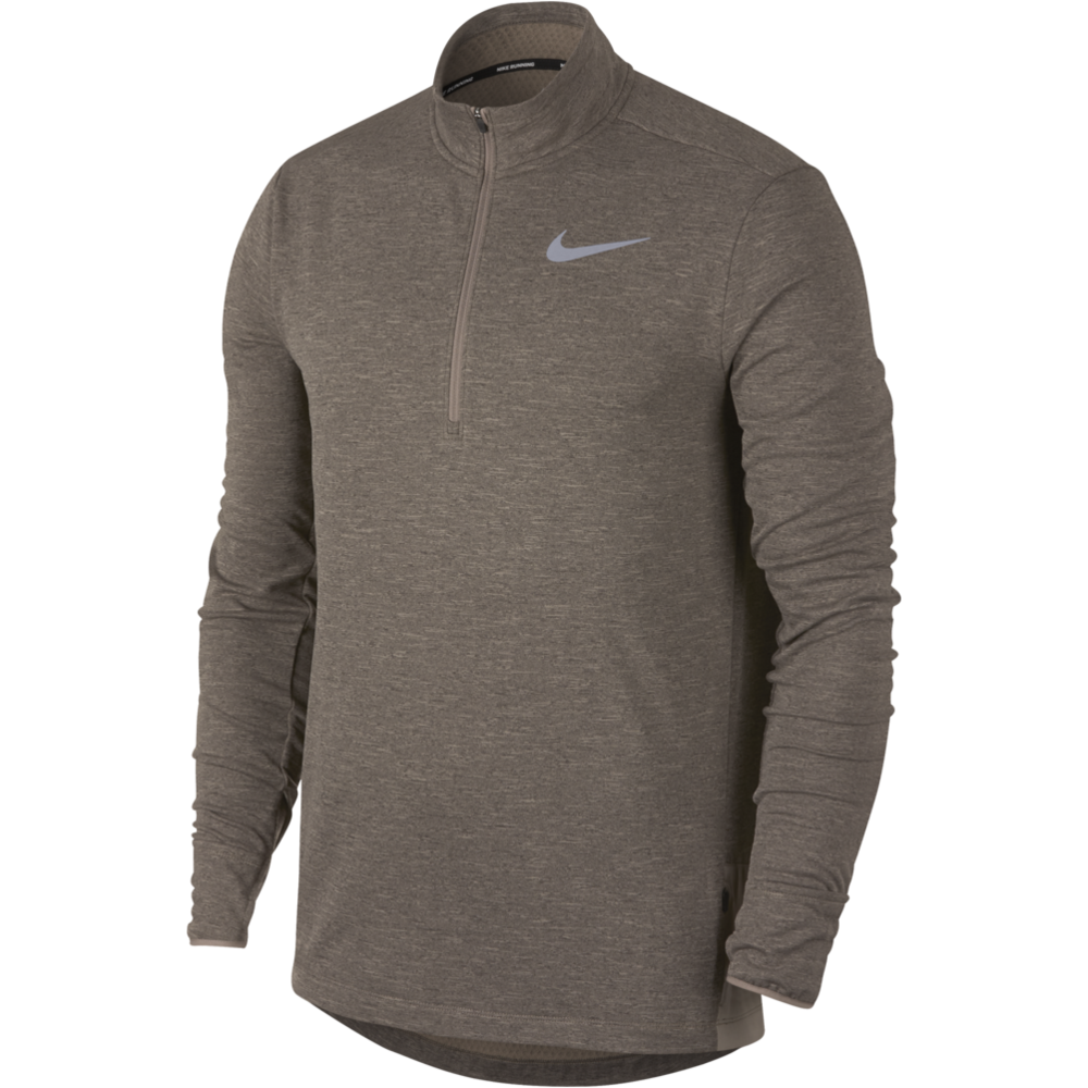 Mens Sphere Element Half-Zip Long Sleeve - Brown/Heather