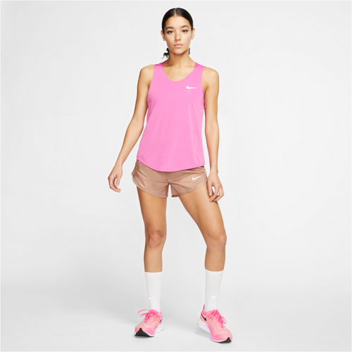 Womens Icon Clash Running Short - Desert Dust/Fire Pink