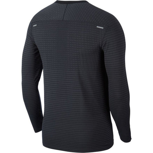 Mens TechKnit Ultra Long-Sleeve Running Top - Black