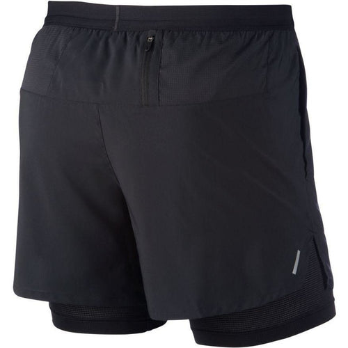 "Mens Flex Stride 5"" 2-In-1 Running Shorts -Black"