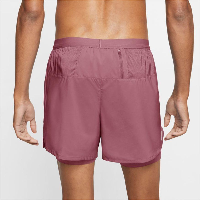 "Mens Flex Stride 5"" 2-In-1 Running Shorts -DESERT BERRY"