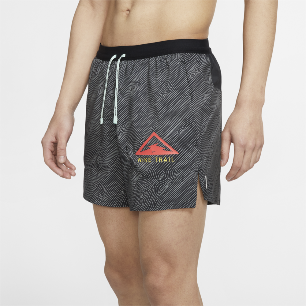 "Mens Flex Stride Trail 5"" Short - Black/Laser Crimson"